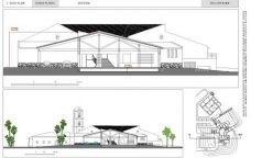 Casa Club, sección transversal