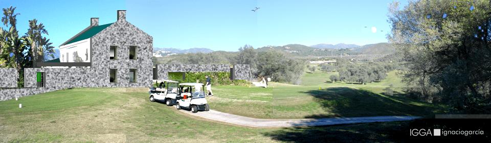 Vista desde tees de golf