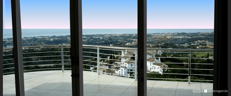 Views over the Mediterranean sea