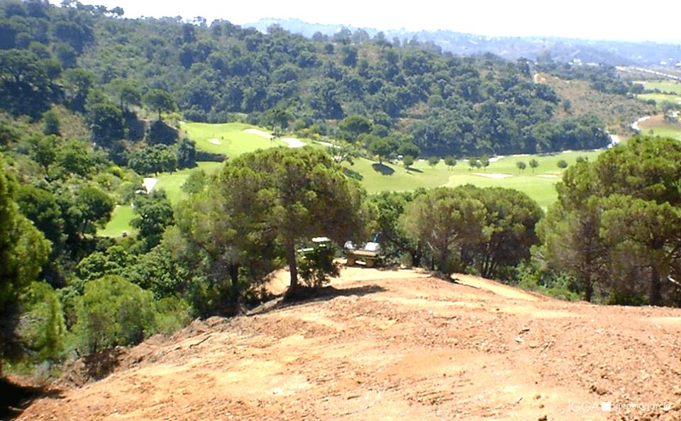 Vistas hacia el campo de golf