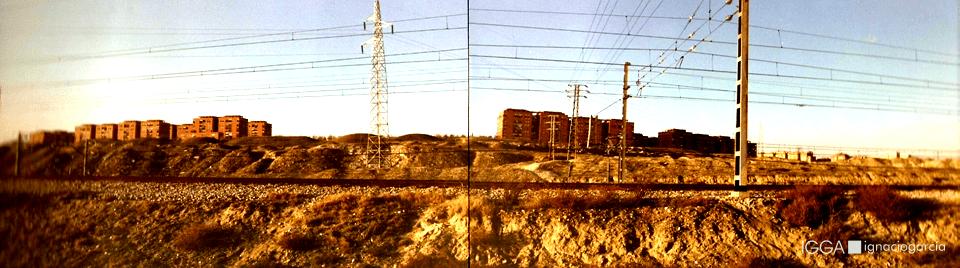 Vista desde vías del ferrocarril